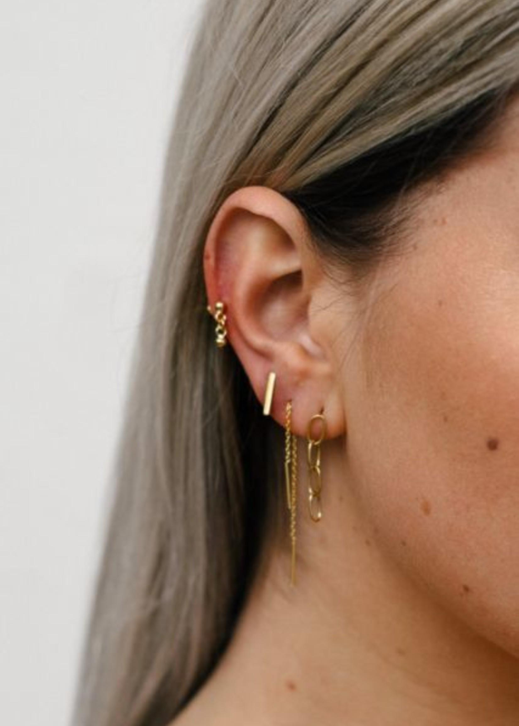 Eline Rosina Single double bar threader gold