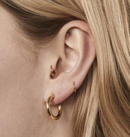 Fashionology Boogie Woogie Hoop Earrings 20mm Gold