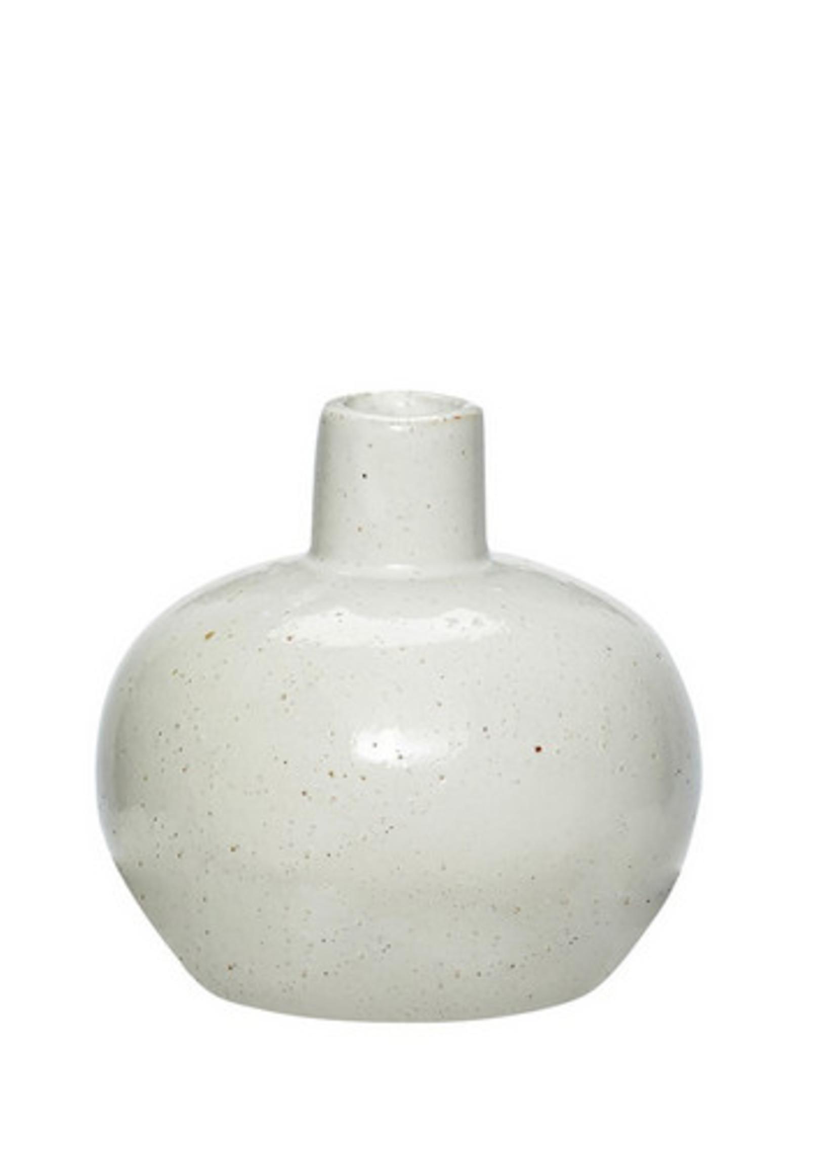 Hubsch Vase, porselain, white/nature