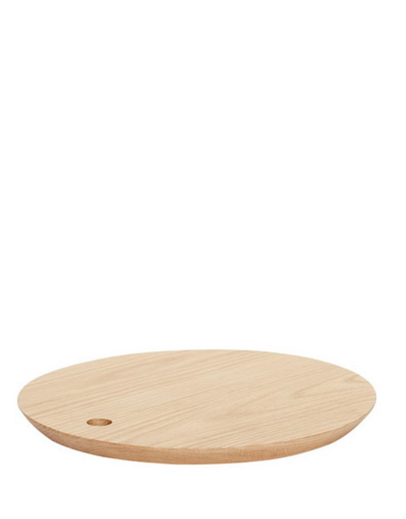 Hubsch Cutting Board, Round, Oak