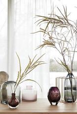 Hubsch Vase, glass, grey high