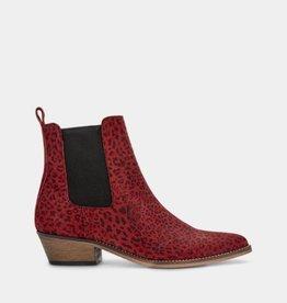 Ivylee Stella Ankle Boot - Leopard Red