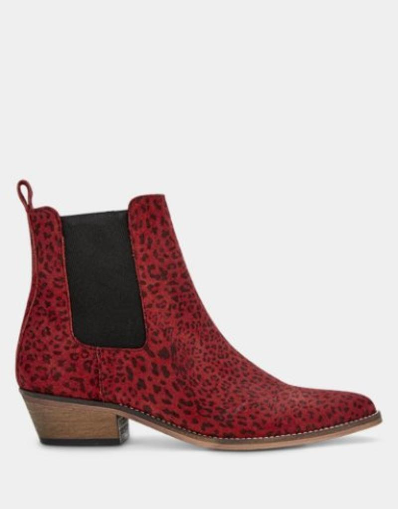 Ivylee Stella Ankle Boot - Leopard Red