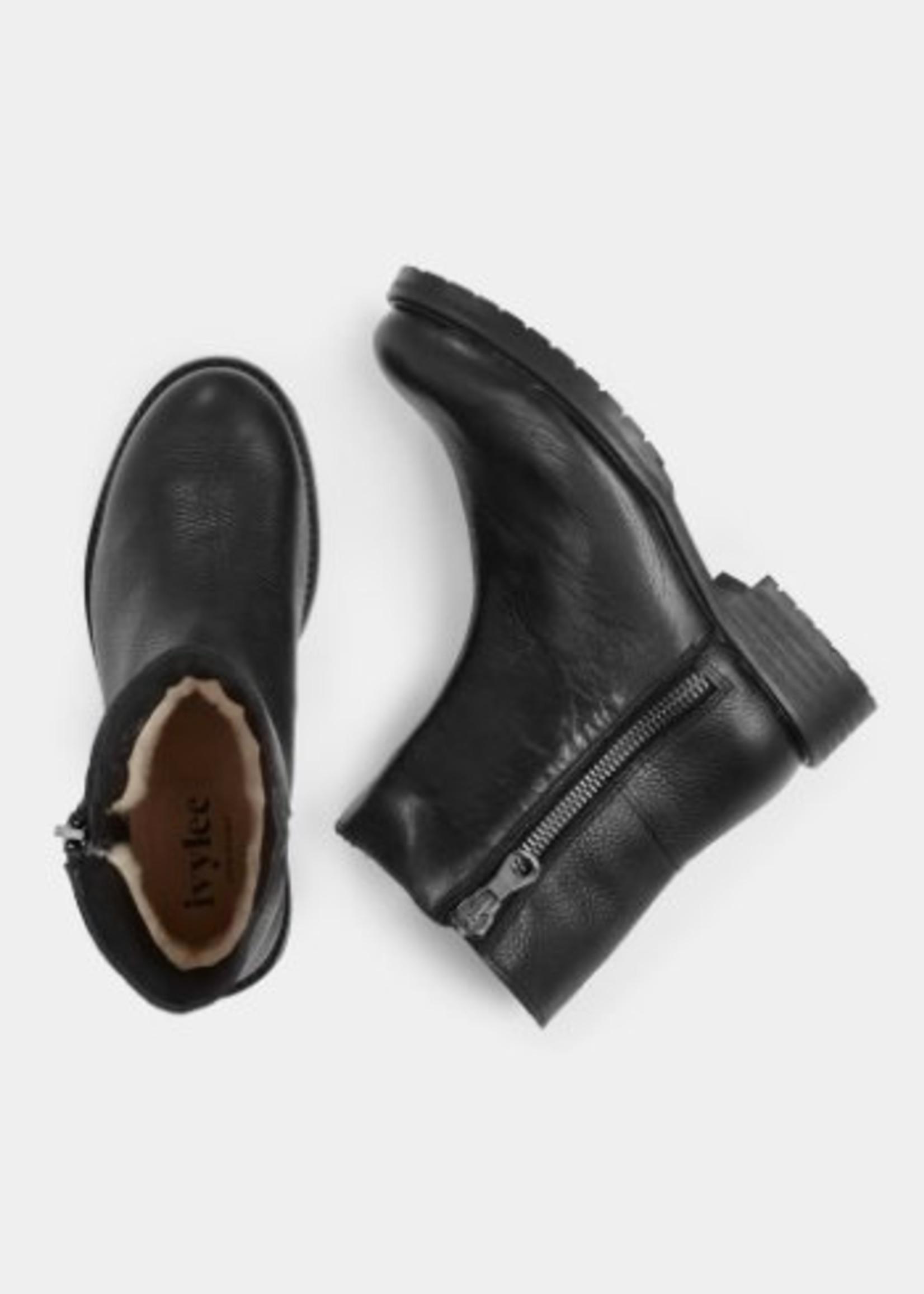 Gina- Zip Boot - Black