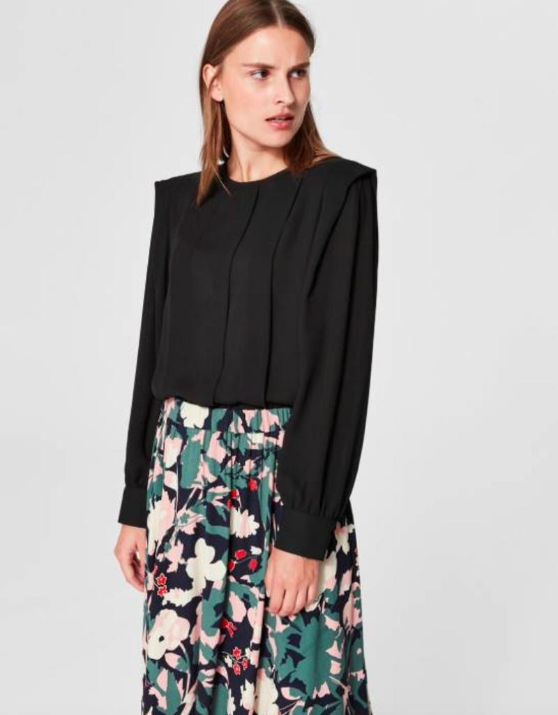 Selected Femme Chanelle Pleat Top
