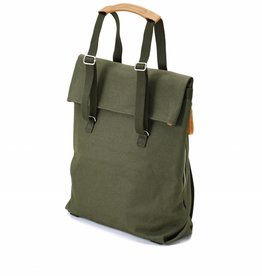 QWSTION Day Tote organic forest green