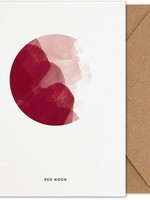 Paper Collective Red Moon Art Card