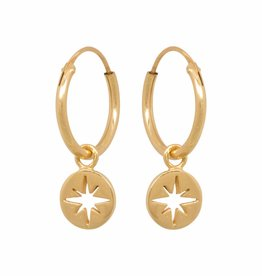 Eline Rosina North star coin hoops gold