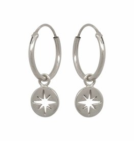 Eline Rosina North star coin hoops silver