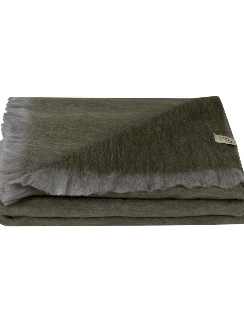 Bufandy Alpaca Shawl  FABIAN  Grey Green
