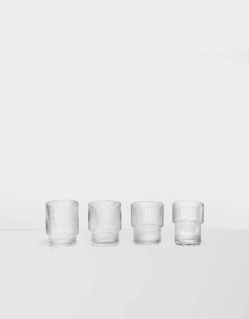 Ferm Living Ripple Glass - set 4