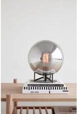 Hubsch Table lamp, metal/glass, smoke