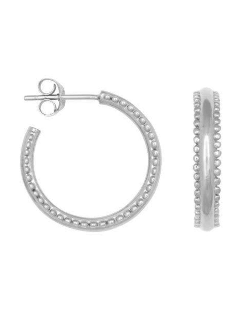 Eline Rosina Double dots hoops silver