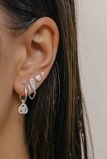 Eline Rosina Round zirconia star silver