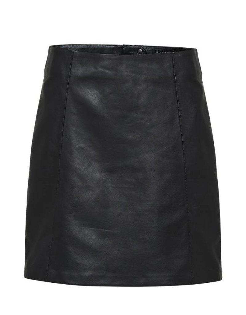Selected Femme Bimi MW Leather Skirt