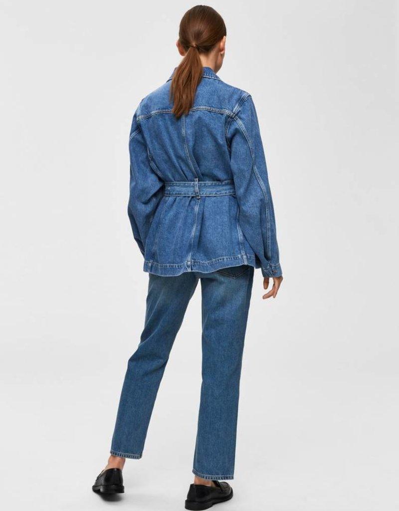 Selected Femme Studios Mid Blue Denim Jacket