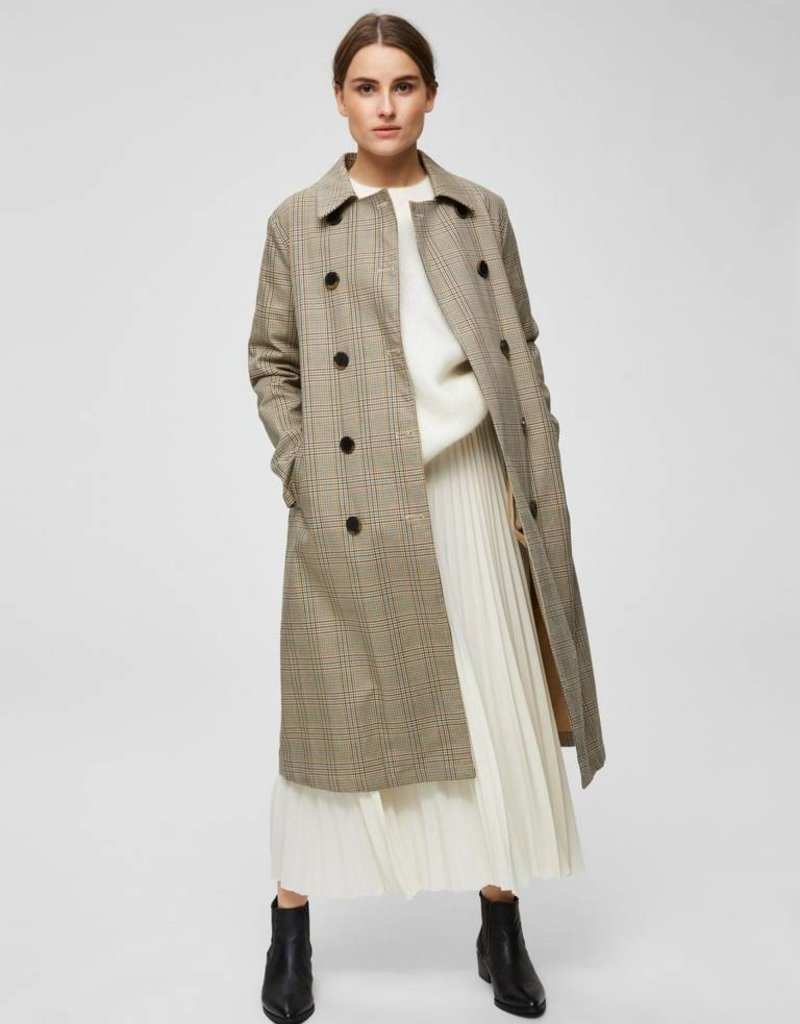 Selected Femme Alexis Midi Skirt Birch