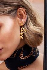 Eline Rosina Round zirconia star gold