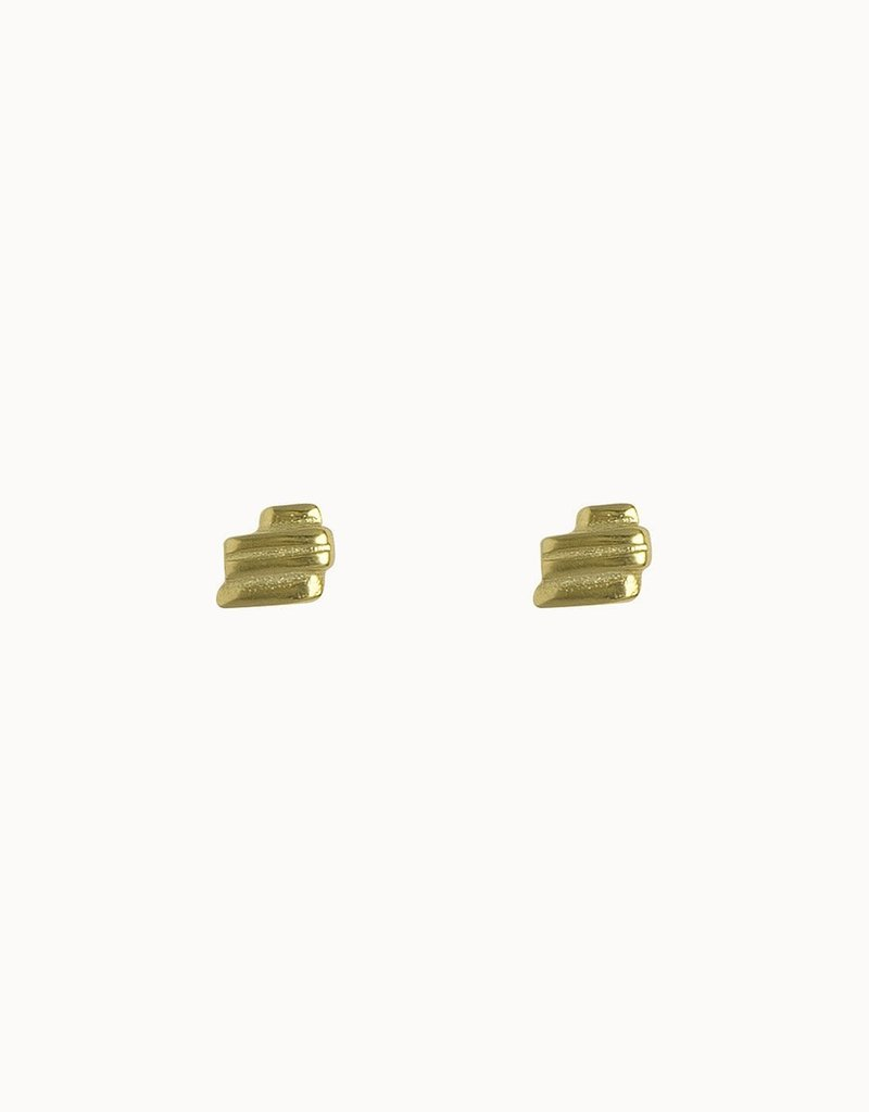 Flawed Layered Studs (Silver/Gold)