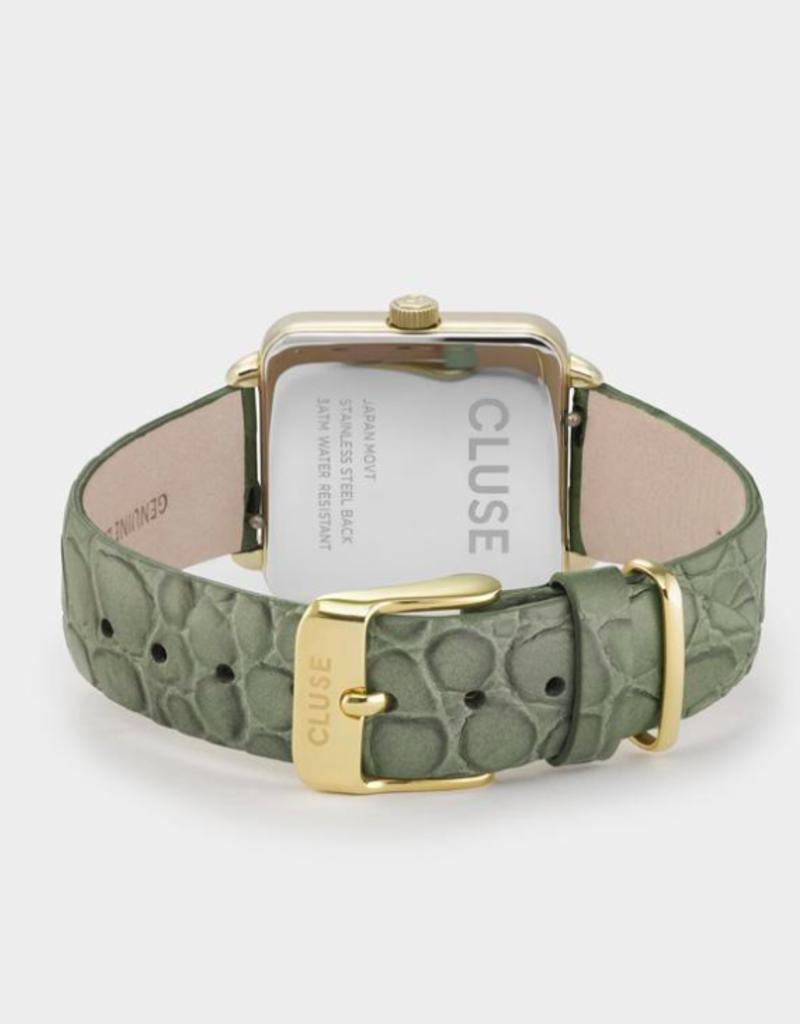 Cluse La Tétragone gold white/green alligator