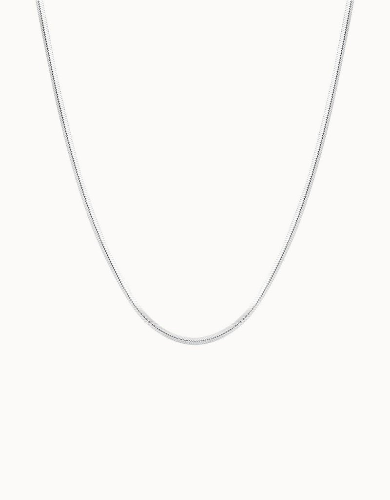 Flawed Square Necklace (Silver/Gold)