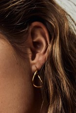 Fashionology Twisted Hoops Gold Plated