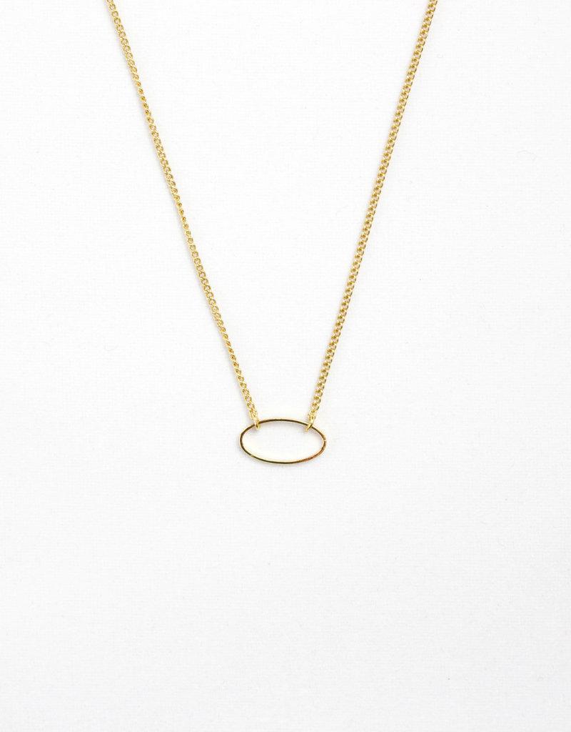 Essyello Oval Necklace Gold