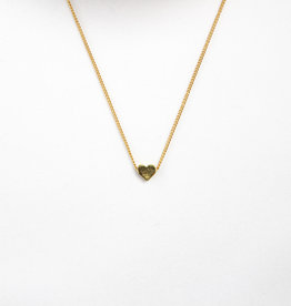 Essyello Heart Necklace Gold
