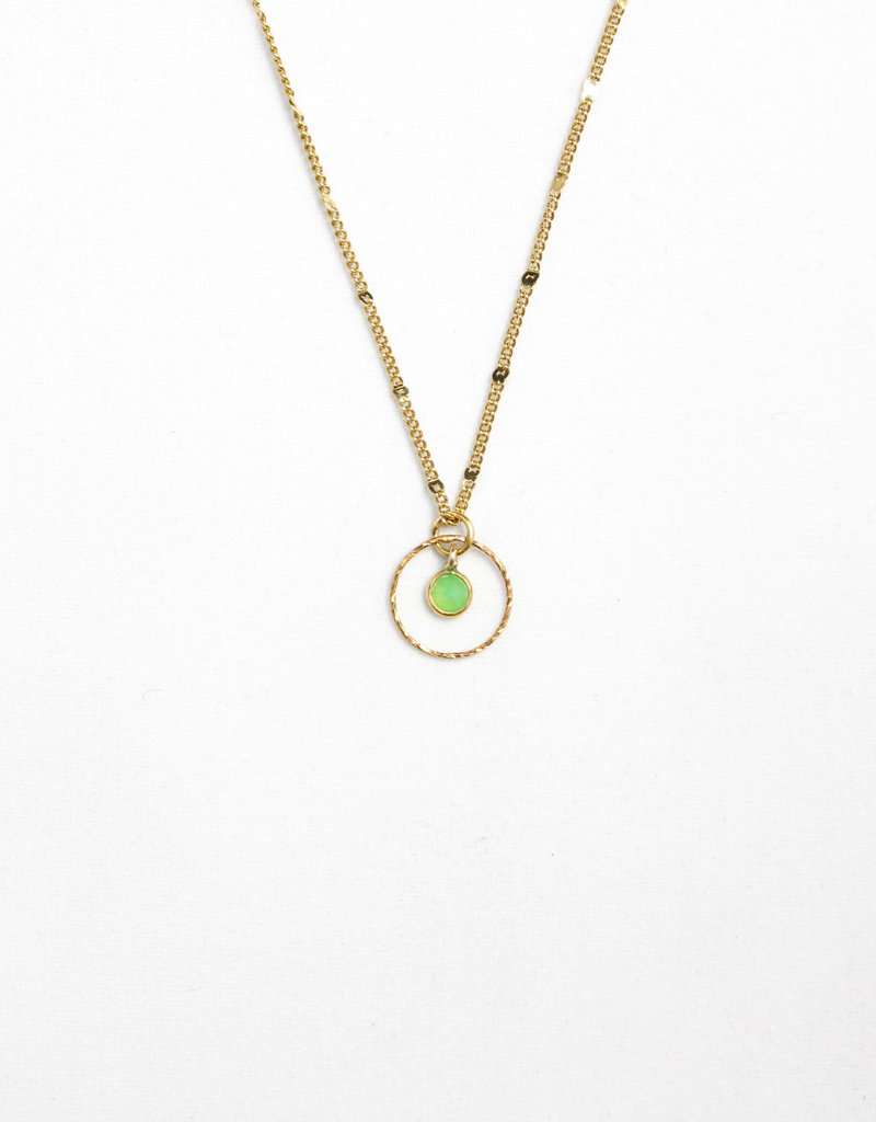 Essyello Circle + Dot Necklace (div. kleuren)