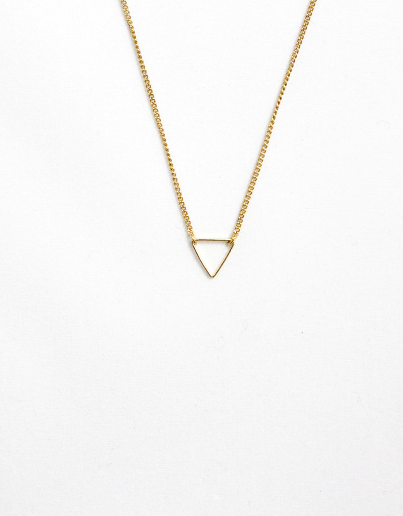 Essyello Triangle Necklace Gold