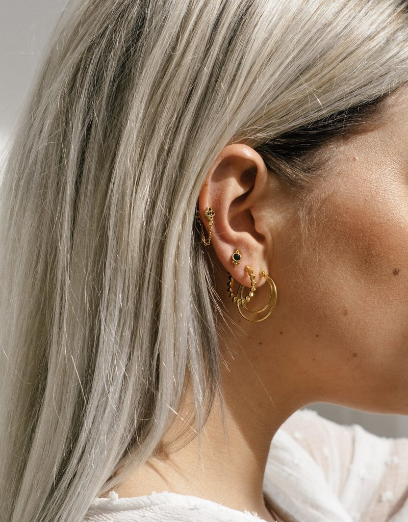 Eline Rosina Delicate black zairconia gold
