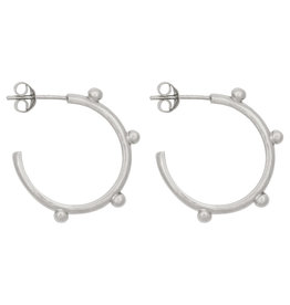 Eline Rosina Large dots hoops sterling silver