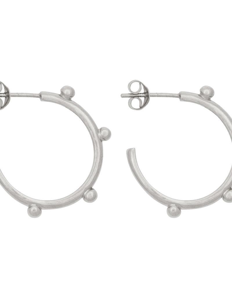 Eline Rosina Large dots hoops sterling silver