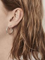 Fashionology Boogie Woogie Hoop Earrings 25mm Silver