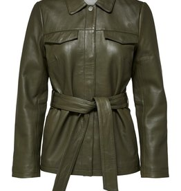 Selected Femme Stella Utility Leather Jacket