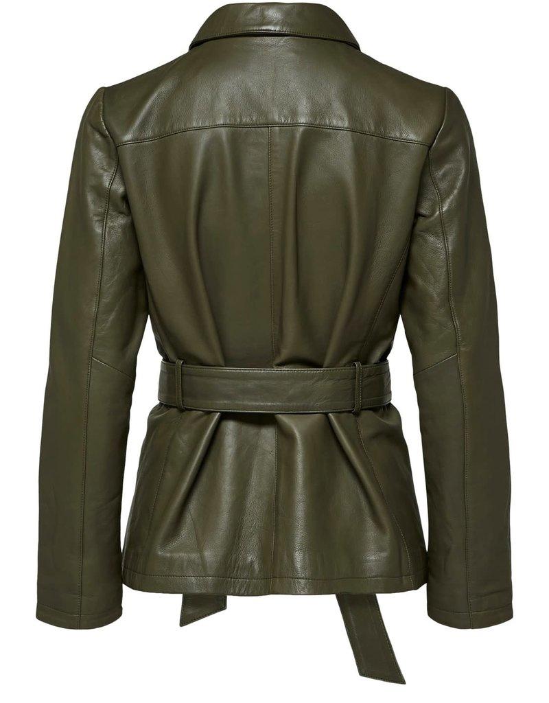 Selected Femme Stella Utility Leather Jacket