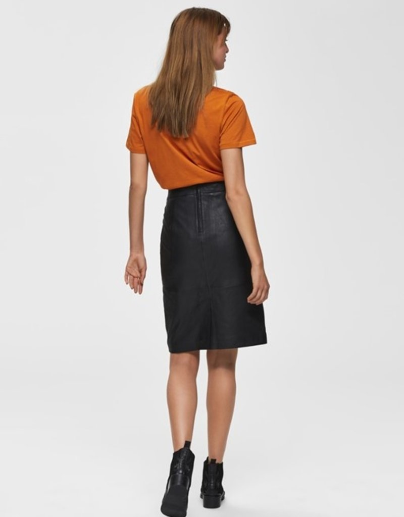 Selected Femme Maily leather HW Skirt