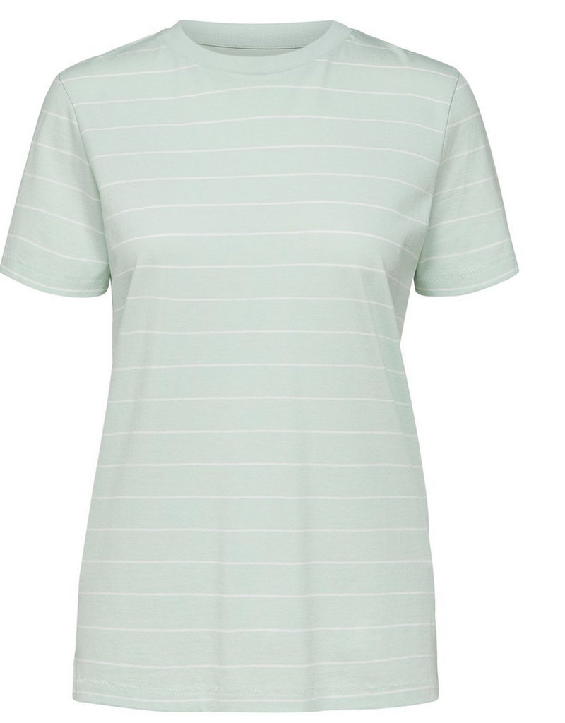 Selected Femme Perfect Tee Thin Striped