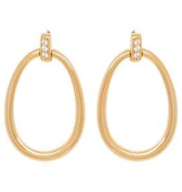 Eline Rosina High Shine Door Knocker earrings
