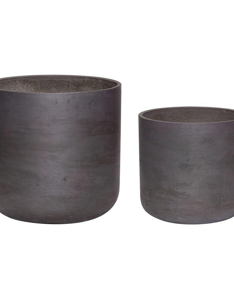 Hubsch Pot Cement Black