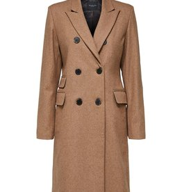 Selected Femme Bina Wool Coat Camp