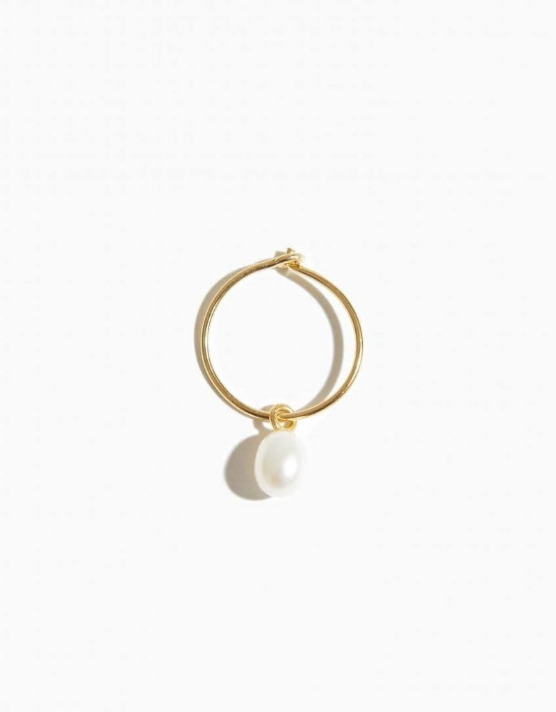 Fashionology Wild Pearl Earring Gold plated