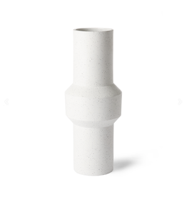 HKliving Speckled clay vase straight L