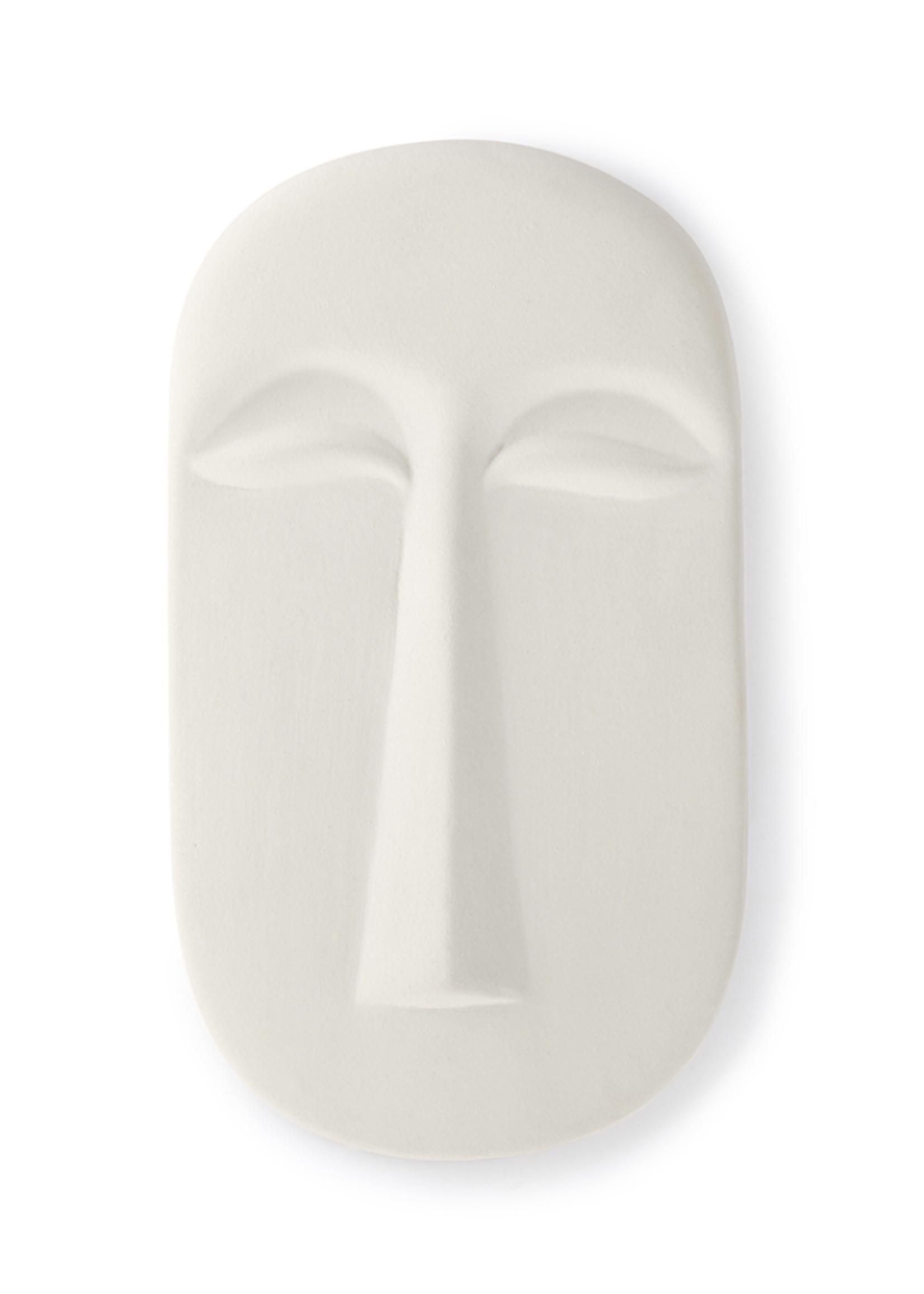 HKliving HK living mask wall ornament L matt white