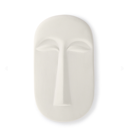 HKliving HK living mask wall ornament L matt white