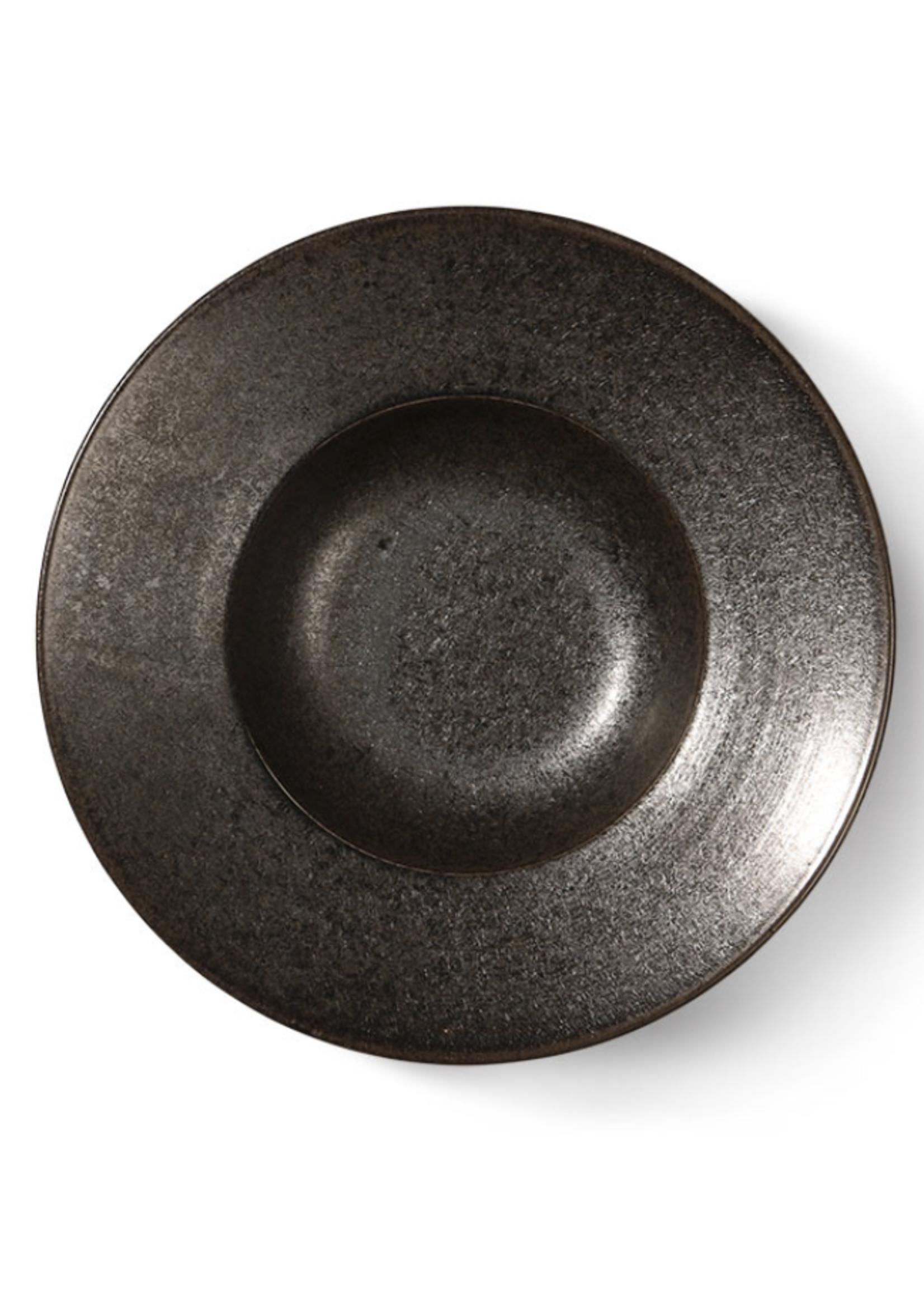 HKliving Rustic pasta plate black