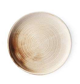 HKliving HK living rustic dinner plate cream/brown