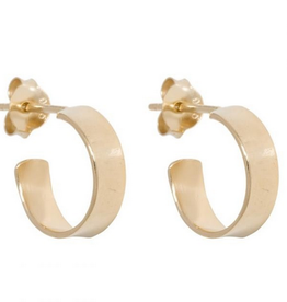 Fashionology Flat Hoop Earrings