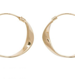 Fashionology Folded Hoop Earrings Gold Plated