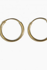 Fashionology Tiny Hoop Earrings 14mm Gold Plated